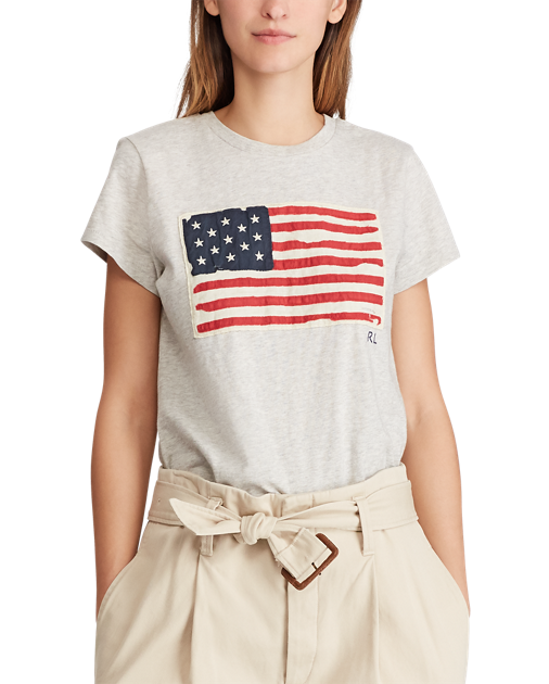 POLO RALPH LAUREN - Flag T-Shirt Grå