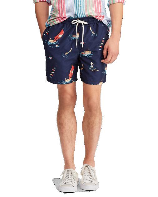 POLO RALPH LAUREN - Traveler Swim 14cm-Inch Blå