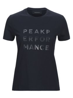 PEAK PERFORMANCE - W Grotee Ground T-shirt Blå