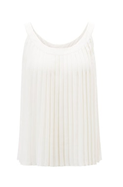HUGO BOSS - Elera Sleeveless Blouse Vit