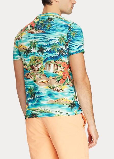 POLO RALPH LAUREN - Short Sleeve Custom Slim Fit T-shirt Mönstrad