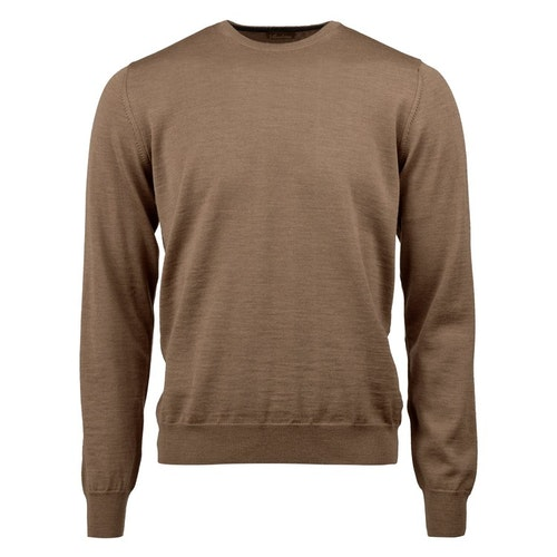 STENSTRÖMS - Crew Neck With Patch Brun