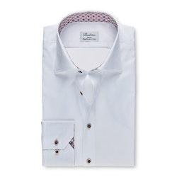STENSTRÖMS - Slim 77 Shirt With Contrast Vit