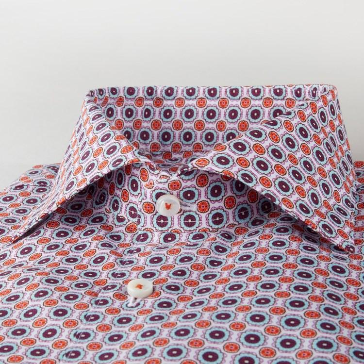 STENSTRÖMS - Slimline 90 Shirt With Pattern Röd