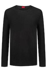 HUGO BOSS - Sleno Relaxed-fit Sweater Svart