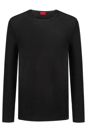 HUGO BOSS - Sleno Relaxed-fit Sweater Svart