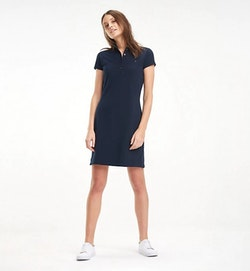 TOMMY HILFIGER - Heritage Slim Polo Dress Blå