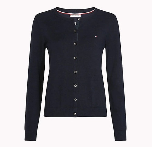 TOMMY HILFIGER - Heritage Button-Up Cardigan Blå