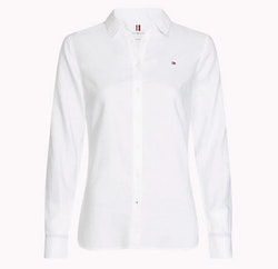 TOMMY HILFIGER - Heritage Regular Fit Shirt Vit