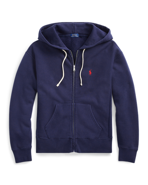 POLO RALPH LAUREN - Fleece Full-Zip Hoodie Blå