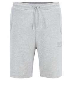 HUGO BOSS - Headlo Cotton-Blend Shorts Grå