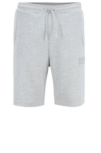 HUGO BOSS - Headlo Cotton-Blend Shorts Grå