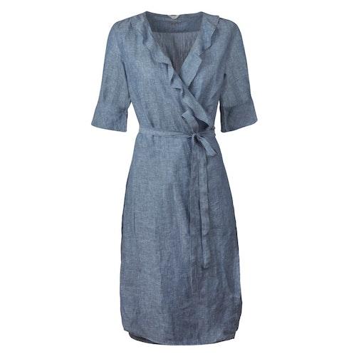 STENSTRÖMS - Ruffle Edges Dress Blå