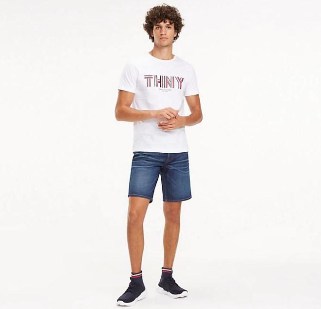 TOMMY HILFIGER - Brooklyn Denim Shorts Blå