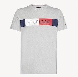 TOMMY HILFIGER - Stripe Hilfiger Tee Grå