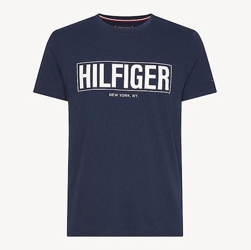 TOMMY HILFIGER - Box Hilfiger Tee Blå