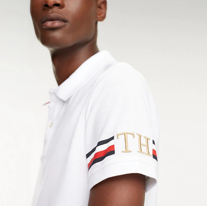 TOMMY HILFIGER - Icon Sleeve Stripe Vit