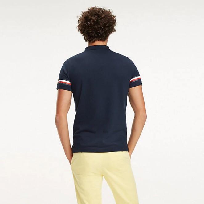 TOMMY HILFIGER - Icon Sleeve Stripe Blå
