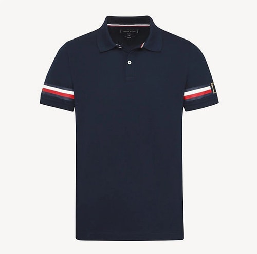 TOMMY HILFIGER - Icon Sleeve Stripe Blå