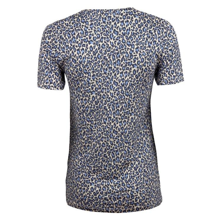 STENSTRÖMS - Jersey Patterned T-shirt Blå