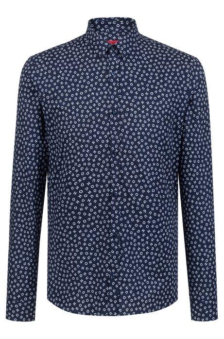 HUGO BOSS - Ero3 Extra Slim Fit Shirt Blå