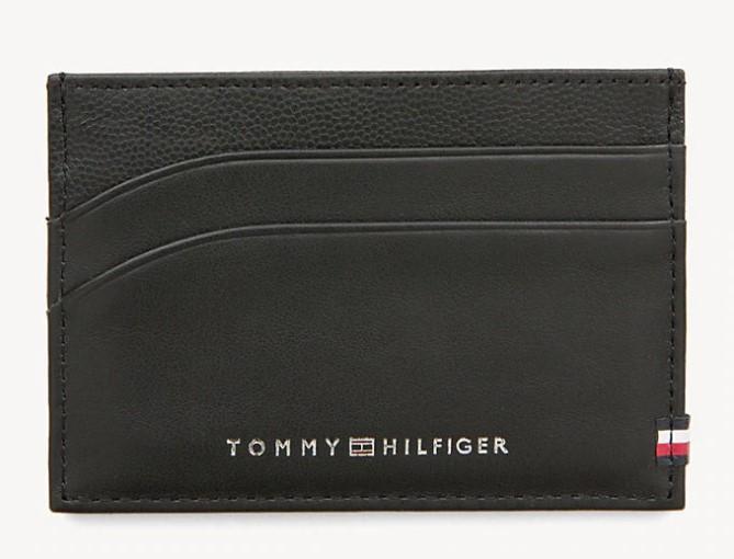 TOMMY HILFIGER - Contrast Leather Card Holder Svart