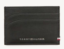 TOMMY HILFIGER - Contrast Leather Card Holder Svart