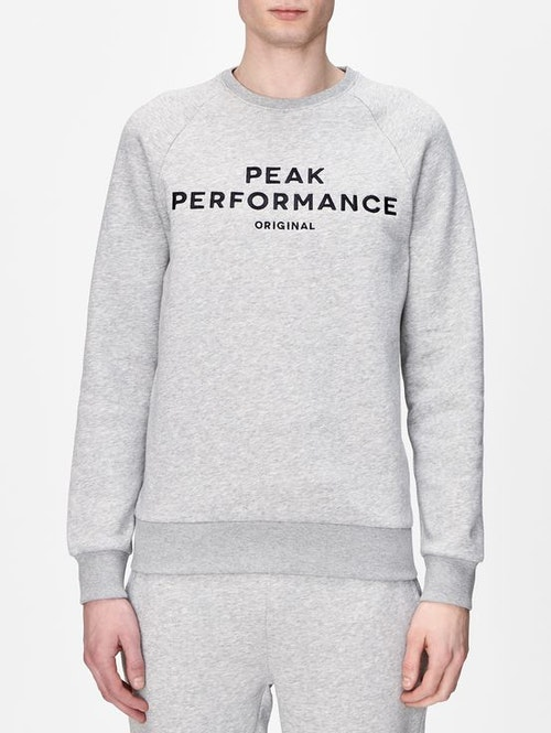 PEAK PERFORMANCE - Original Sweatshirt Cr Grå
