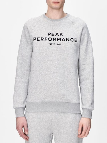 PEAK PERFORMANCE - Original Sweatshirt Cr Grå