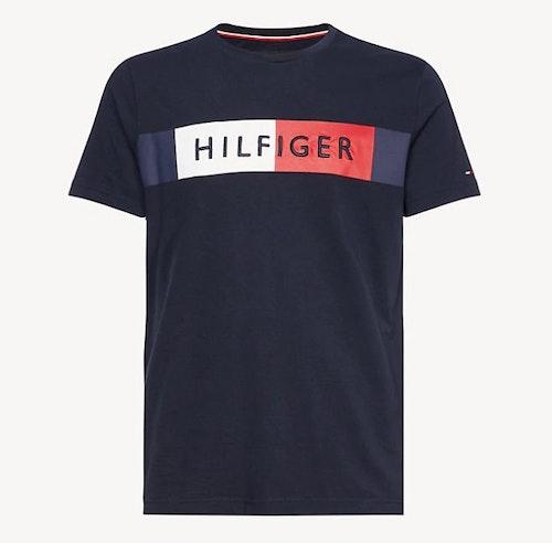 TOMMY HILFIGER - Stripe Colour-Blocket Tee Blå