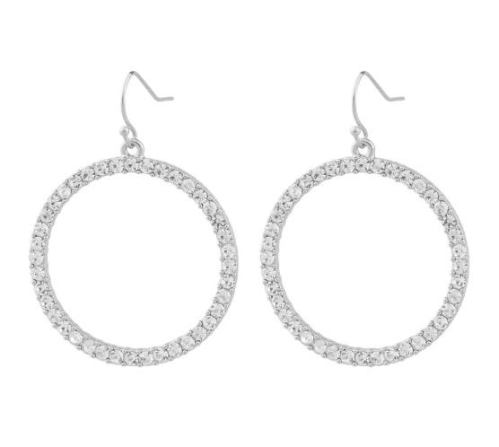SNÖ OF SWEDEN - Josephine Big Pendant Earring Silver