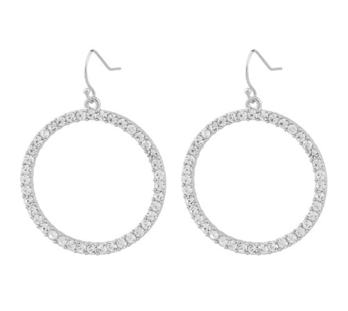 SNÖ OF SWEDEN - Josephine Big Pendant Earring Silver