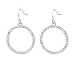 SNÖ OF SWEDEN - Josephine Pendant Earring Silver