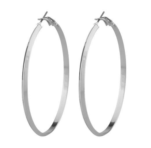 SNÖ OF SWEDEN - Gwen Big Earring Plain Silver