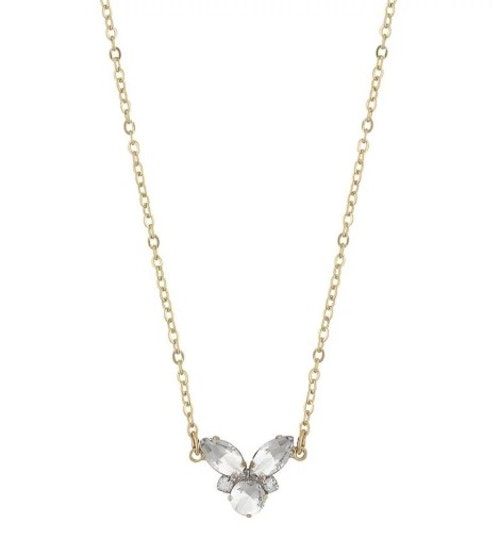 SNÖ OF SWEDEN - Luisa Small Pendant Necklace Guld