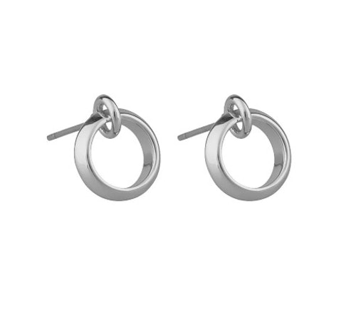SNÖ OF SWEDEN - Gwen Plain Earring Silver