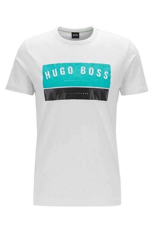 HUGO BOSS - Cotton Logo Tee Grå