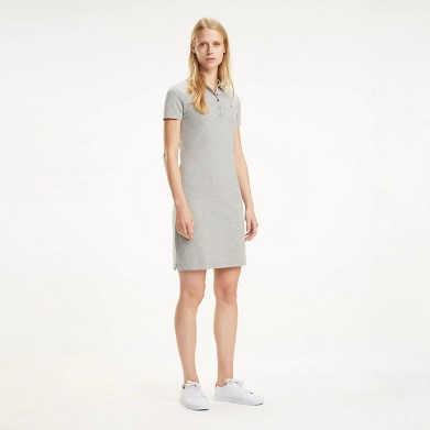 TOMMY HILFIGER - New Chiara Polo Dress Grå