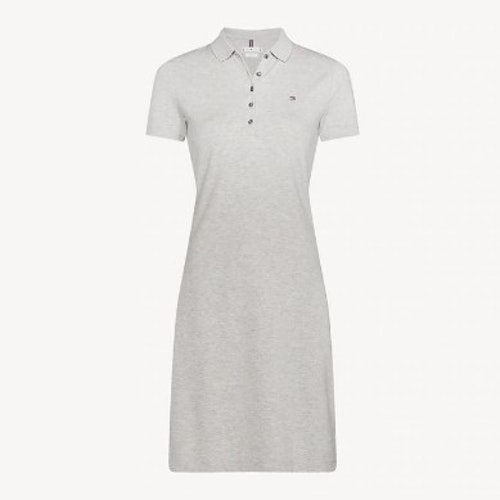 TOMMY HILFIGER - New Chiara Polo Dress Grå