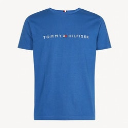 TOMMY HILFIGER - Core Tommy Logo Tee Blå