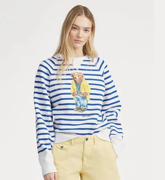 POLO RALPH LAUREN - Bear Long Sleeve Randig
