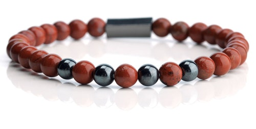 Armband RED BEADS