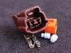Kontakt 2-polig  (Nissan tomgångsmotor)