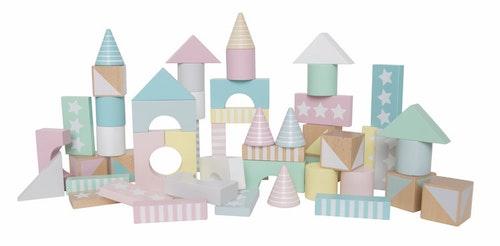 Byggklossar pastell