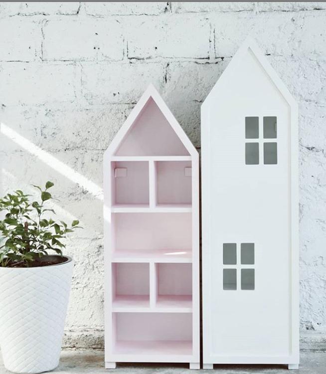 Mini city bokhylla rosa