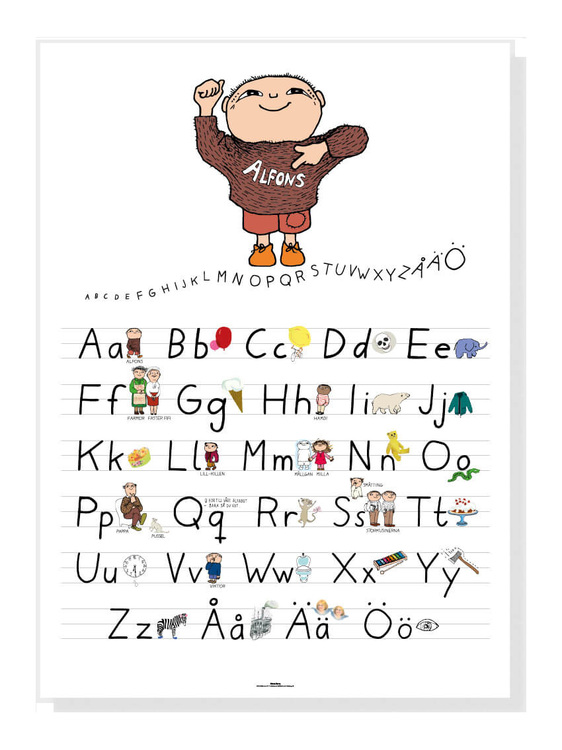 Alfons Åberg alfabetposter