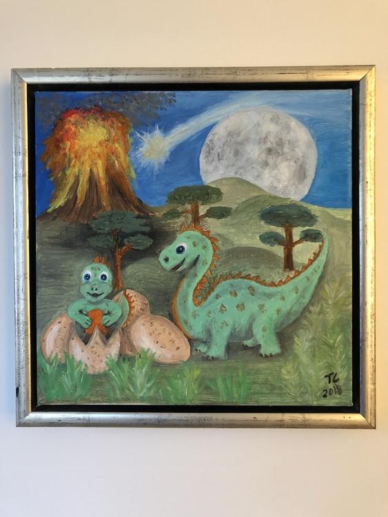 Dinosauriebebis kommer till världen