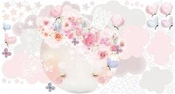 Sleepy Moon Wall Sticker – Pink
