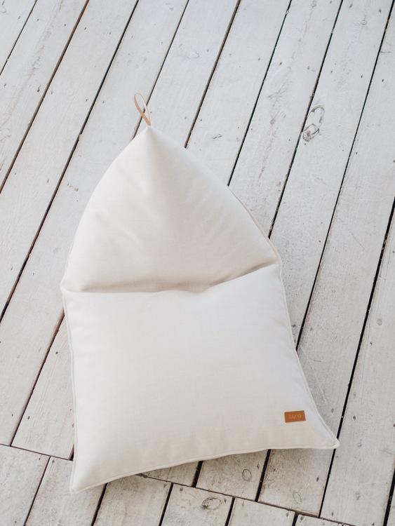 Saccosäck melange vit/beige