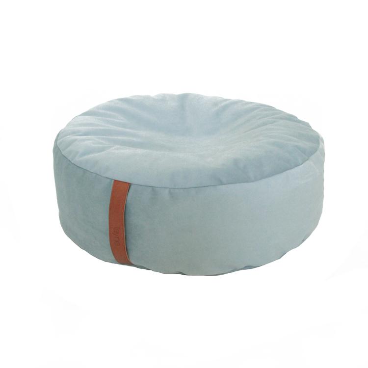 Sittpuff mjuk ljusblå (aqua)